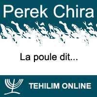 Perek Chira : La poule dit