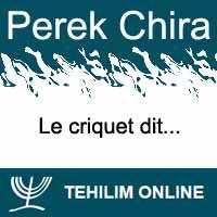 Perek Chira : Le criquet dit