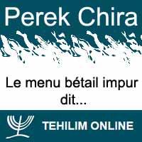 Perek Chira : Le menu bétail impur dit