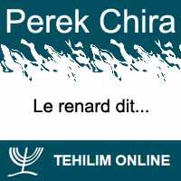 Perek Chira : Le renard dit