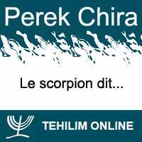 Perek Chira : Le scorpion dit