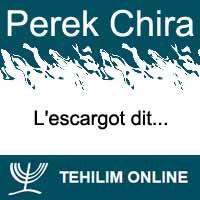 Perek Chira : L'escargot dit
